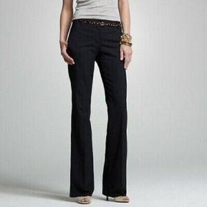 J.CREW Size 6 Favorite Fit Black Bootcut Pants